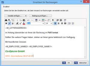 E-Mailtext Formatieren