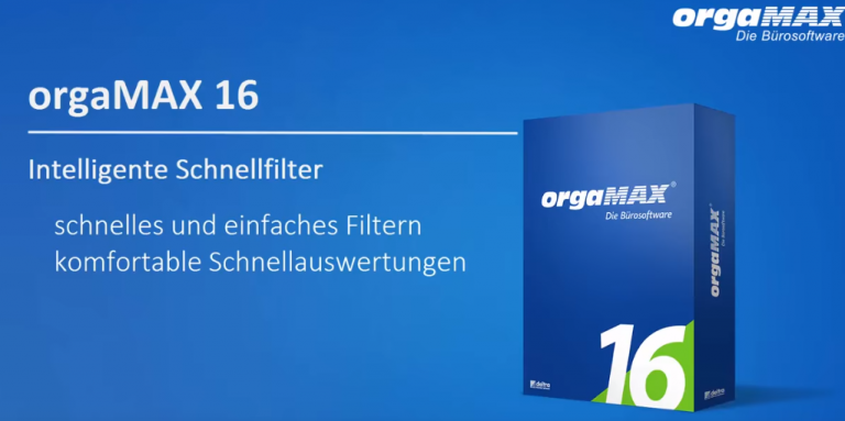 orgaMAX Schnellfilter Video